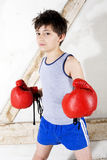 Young boy as a boxer Stock Photo