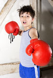 Young boy as a boxer Royalty Free Stock Photo