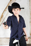 Young boy as a cowboy Royalty Free Stock Photos