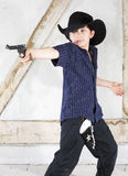 Young boy as a cowboy Stock Photos