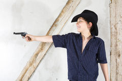 Young boy as a cowboy Stock Photography