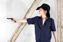 Young boy as a cowboy Royalty Free Stock Images