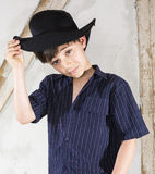 Young boy as a cowboy Stock Photo
