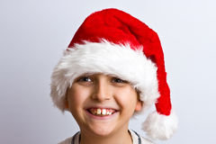 Young boy as Santa Claus Stock Photo