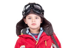 Young boy aviator Stock Images