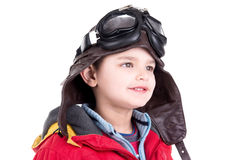 Young boy aviator Royalty Free Stock Image