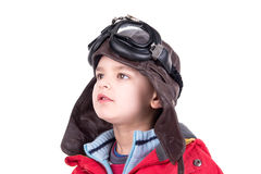 Young boy aviator Stock Photography