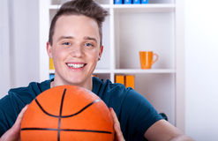 Young boy with ball Stock Photo