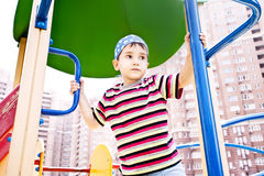 Young boy in bandana on playground Royalty Free Stock Image