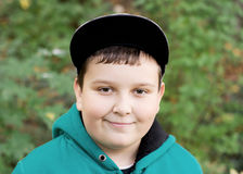 Young boy in a baseball cap Royalty Free Stock Photography