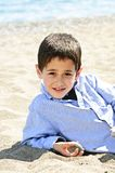 Young boy at beach Stock Image