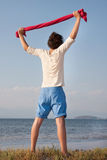 Young boy at beach Royalty Free Stock Images