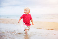 Young boy at the beach Royalty Free Stock Photo