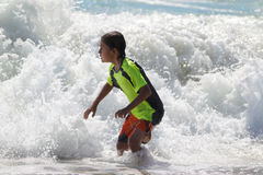 Young boy at the beach Stock Photography