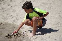 Young boy at the beach Royalty Free Stock Photography