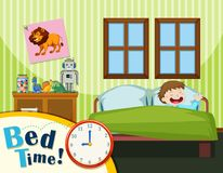 Free Young Boy Bed Time Royalty Free Stock Photography - 124392307