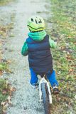 young boy with bike Stock Photography