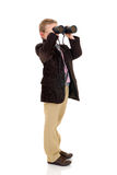 Young boy with binoculars Royalty Free Stock Image