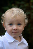 Young boy with blonde hair Royalty Free Stock Photography