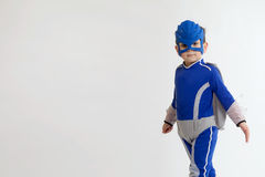 Young boy in a Superhero costume Royalty Free Stock Images