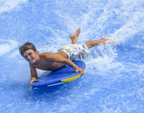 Young Boy Boogey Boarding Stock Images