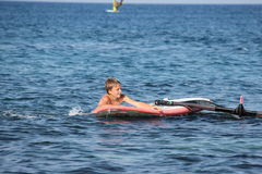 Young boy with boogy board Royalty Free Stock Images