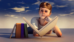 Young boy with book Royalty Free Stock Photos