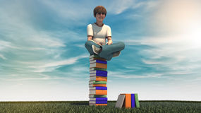 Young boy with book Royalty Free Stock Images