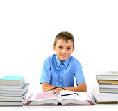 Young boy with books Royalty Free Stock Photo