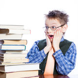 Young boy with books Royalty Free Stock Photos