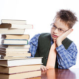 Young boy with books Stock Image