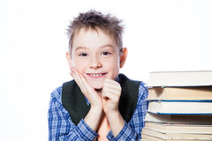 Young boy with books Stock Photography