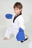 Young boy boxer. Studio shot Royalty Free Stock Images