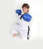 Young boy boxer. Studio shot Royalty Free Stock Photos
