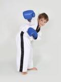 Young boy boxer. Studio shot Royalty Free Stock Image