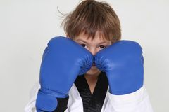 Young boy boxer Stock Image