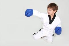 Young boy boxer. Studio shot Stock Image