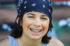 Young boy with braces Stock Image