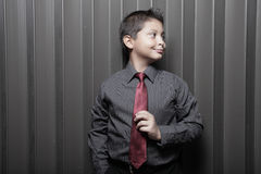 Young boy in business attire Stock Photos