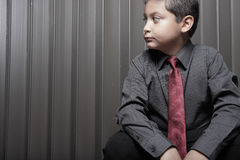 Young boy in business attire Royalty Free Stock Photos