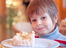 Young boy in cafe stock photography