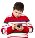 Young boy with calculator Stock Photography