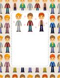 Young boy card Royalty Free Stock Images