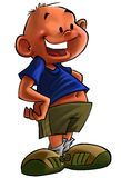 Young boy cartoon. A cartoon image of a young boy Royalty Free Stock Images