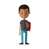 Young boy cartoon icon. Young boy cartoon wearing casual clothes over white background. colorful design. vector illustration Royalty Free Stock Photography