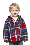 Young boy casually dressed smiling Stock Photo