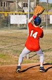 Young Boy Catching Baseball Royalty Free Stock Photos