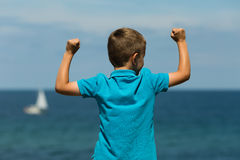 Young boy. Young caucasian boy in Denmark on a summer day Royalty Free Stock Photos