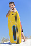 Young Boy Child With Surfboard At The Beach Stock Photo