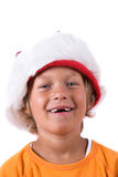 Young boy with christmas hat Royalty Free Stock Images